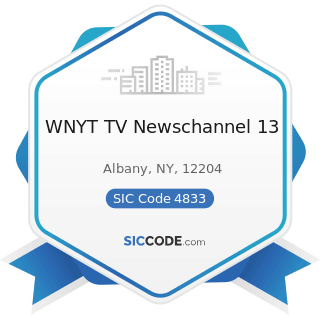 WNYT TV Newschannel 13 - SIC Code 4833 - Television Broadcasting Stations