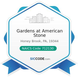 Gardens at American Stone - NAICS Code 712130 - Zoos and Botanical Gardens