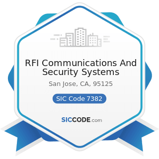RFI Communications And Security Systems - SIC Code 7382 - Security Systems Services