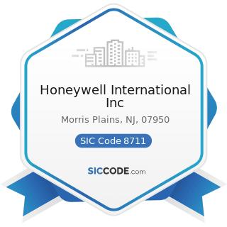 Honeywell International Inc - SIC Code 8711 - Engineering Services
