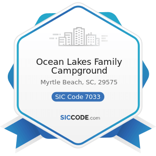 Ocean Lakes Family Campground - SIC Code 7033 - Recreational Vehicle Parks and Campsites