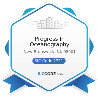 Progress In Oceanography - SIC Code 2721 - Periodicals: Publishing, or Publishing and Printing
