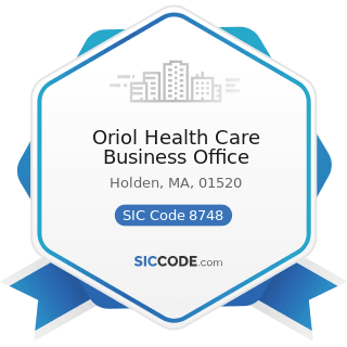 Oriol Health Care Business Office - SIC Code 8748 - Business Consulting Services, Not Elsewhere...