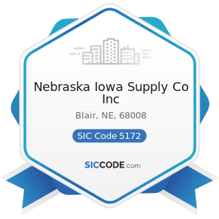 Nebraska Iowa Supply Co Inc - SIC Code 5172 - Petroleum and Petroleum Products Wholesalers,...
