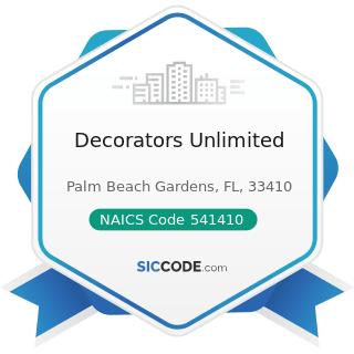 Decorators Unlimited - NAICS Code 541410 - Interior Design Services