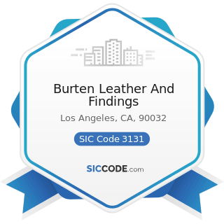 Burten Leather And Findings - SIC Code 3131 - Boot and Shoe Cut Stock and Findings