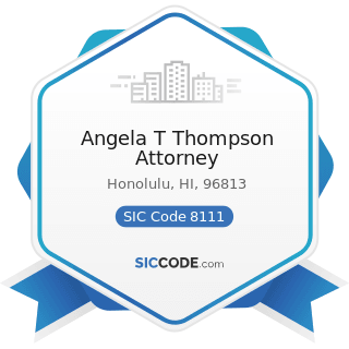 Angela T Thompson Attorney - SIC Code 8111 - Legal Services