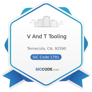 V And T Tooling - SIC Code 1791 - Structural Steel Erection