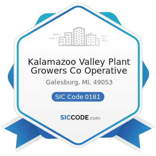 Kalamazoo Valley Plant Growers Co Operative - SIC Code 0181 - Ornamental Floriculture and...
