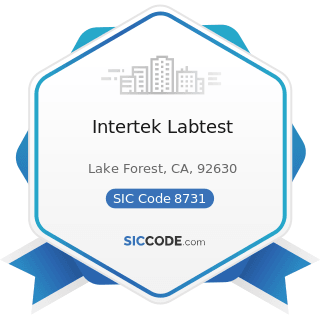 Intertek Labtest - SIC Code 8731 - Commercial Physical and Biological Research