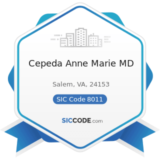 Cepeda Anne Marie MD - SIC Code 8011 - Offices and Clinics of Doctors of Medicine