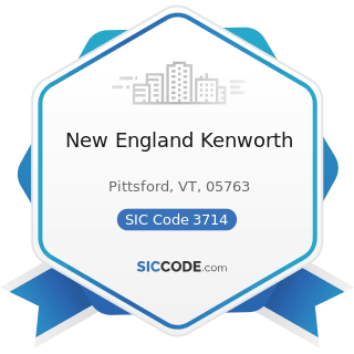 New England Kenworth - SIC Code 3714 - Motor Vehicle Parts and Accessories
