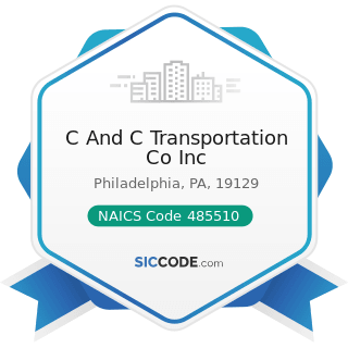 C And C Transportation Co Inc - NAICS Code 485510 - Charter Bus Industry