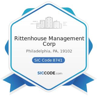 Rittenhouse Management Corp - SIC Code 8741 - Management Services