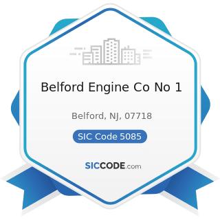 Belford Engine Co No 1 - SIC Code 5085 - Industrial Supplies