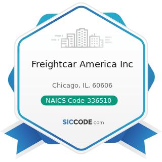 Freightcar America Inc - NAICS Code 336510 - Railroad Rolling Stock Manufacturing