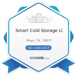 Smart Cold Storage Ll - SIC Code 4213 - Trucking, except Local