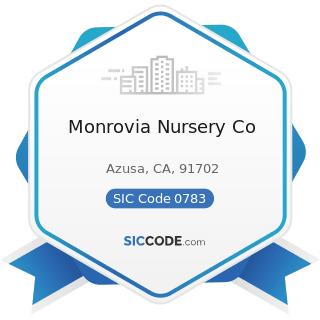 Monrovia Nursery Co - SIC Code 0783 - Ornamental Shrub and Tree Services
