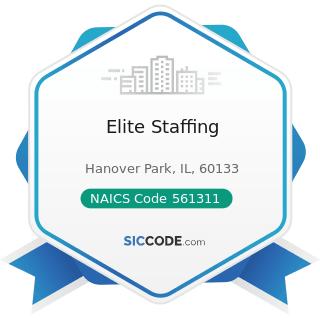 Elite Staffing - NAICS Code 561311 - Employment Placement Agencies