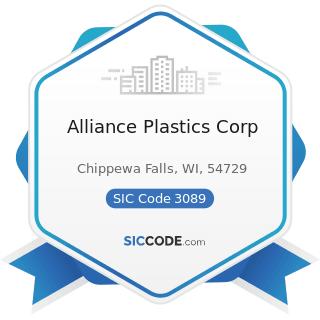 Alliance Plastics Corp - SIC Code 3089 - Plastics Products, Not Elsewhere Classified
