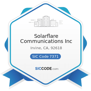 Solarflare Communications Inc - SIC Code 7371 - Computer Programming Services