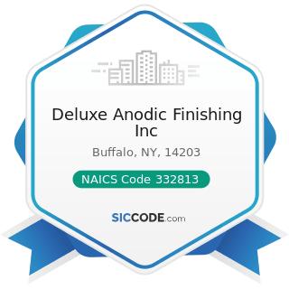 Deluxe Anodic Finishing Inc - NAICS Code 332813 - Electroplating, Plating, Polishing, Anodizing,...
