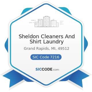 Sheldon Cleaners And Shirt Laundry - SIC Code 7216 - Drycleaning Plants, except Rug Cleaning