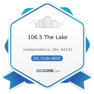 106.5 The Lake - SIC Code 4832 - Radio Broadcasting Stations