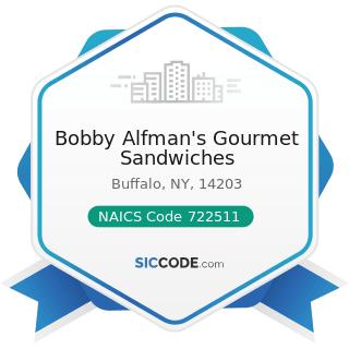 Bobby Alfman's Gourmet Sandwiches - NAICS Code 722511 - Full-Service Restaurants