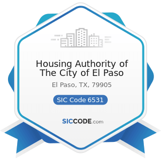Housing Authority of The City of El Paso - SIC Code 6531 - Real Estate Agents and Managers