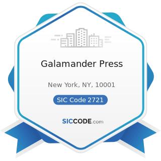Galamander Press - SIC Code 2721 - Periodicals: Publishing, or Publishing and Printing