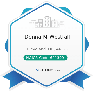Donna M Westfall - NAICS Code 621399 - Offices of All Other Miscellaneous Health Practitioners