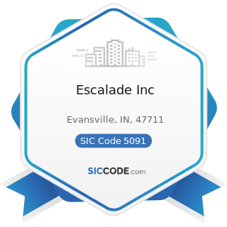 Escalade Inc - SIC Code 5091 - Sporting and Recreational Goods and Supplies