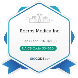 Recros Medica Inc - NAICS Code 334510 - Electromedical and Electrotherapeutic Apparatus...
