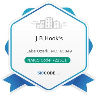 J B Hook's - NAICS Code 722511 - Full-Service Restaurants