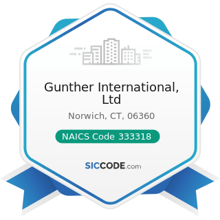 Gunther International, Ltd - NAICS Code 333318 - Other Commercial and Service Industry Machinery...