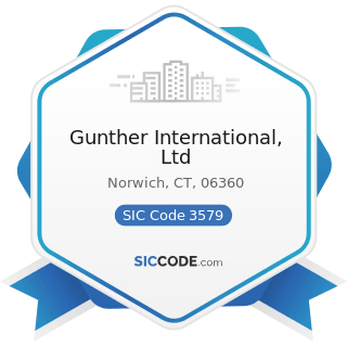 Gunther International, Ltd - SIC Code 3579 - Office Machines, Not Elsewhere Classified