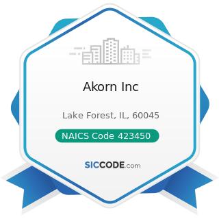 Akorn Inc - NAICS Code 423450 - Medical, Dental, and Hospital Equipment and Supplies Merchant...