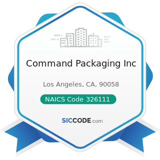 Command Packaging Inc - NAICS Code 326111 - Plastics Bag and Pouch Manufacturing