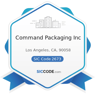 Command Packaging Inc - SIC Code 2673 - Plastics, Foil, and Coated Paper Bags