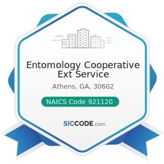 Entomology Cooperative Ext Service - NAICS Code 921120 - Legislative Bodies