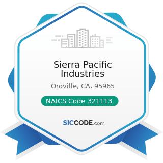 Sierra Pacific Industries - NAICS Code 321113 - Sawmills