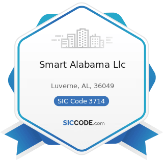 Smart Alabama Llc - SIC Code 3714 - Motor Vehicle Parts and Accessories