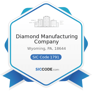 Diamond Manufacturing Company - SIC Code 1791 - Structural Steel Erection