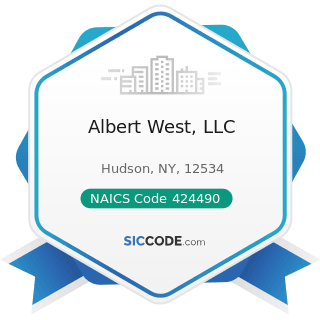 Albert West, LLC - NAICS Code 424490 - Other Grocery and Related Products Merchant Wholesalers