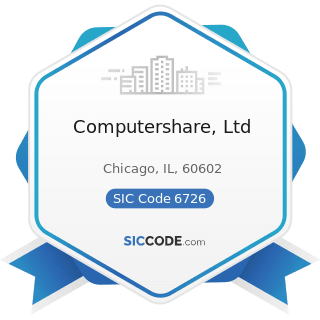 Computershare, Ltd - SIC Code 6726 - Unit Investment Trusts, Face-Amount Certificate Offices,...