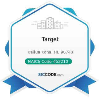 Target - NAICS Code 452210 - Department Stores