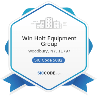 Win Holt Equipment Group - SIC Code 5082 - Construction and Mining (except Petroleum) Machinery...