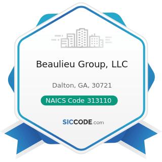 Beaulieu Group, LLC - NAICS Code 313110 - Fiber, Yarn, and Thread Mills
