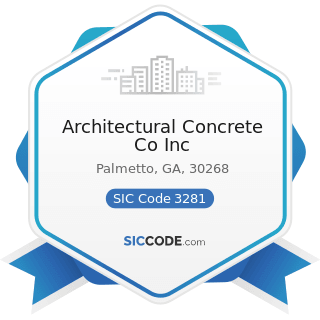 Architectural Concrete Co Inc - SIC Code 3281 - Cut Stone and Stone Products